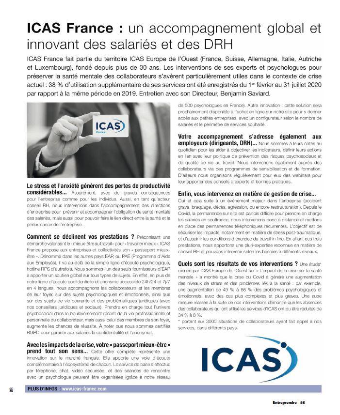 ICAS France Programme d'Aide aux Employés EAP